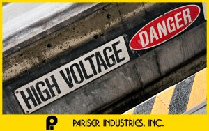 High Voltage DANGER Electrical Shock Electrocution